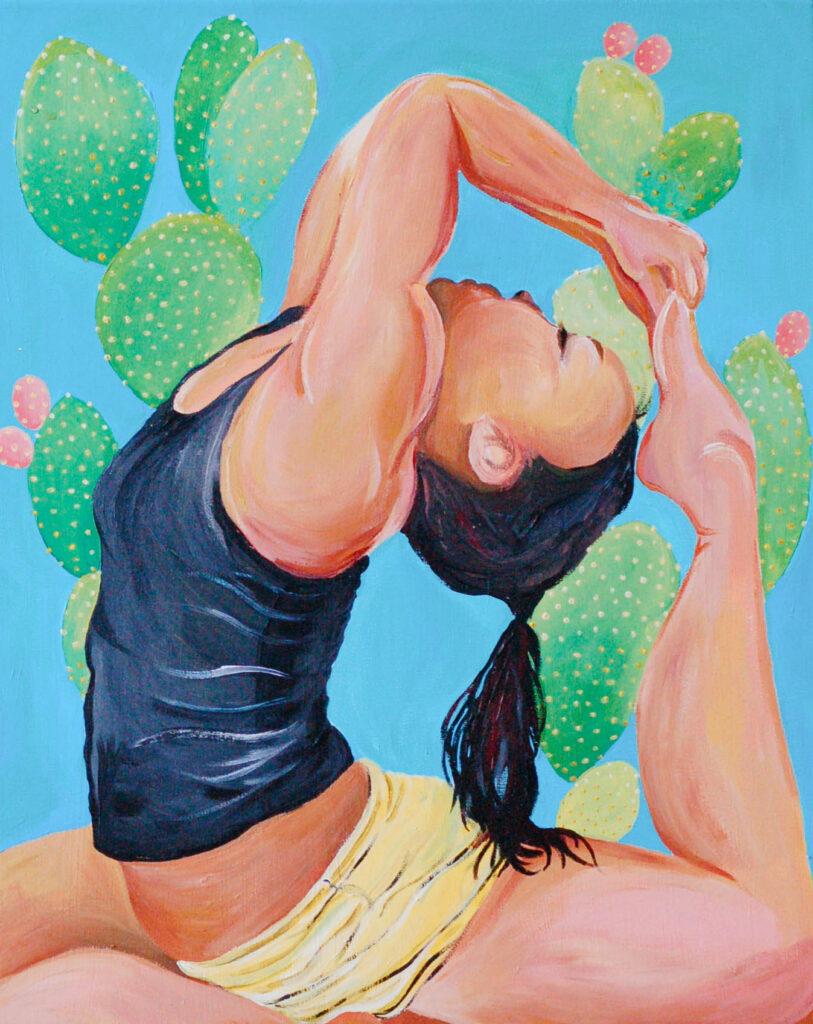 Asana. 16x24 inches. Acrylic on canvas.